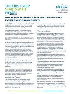 NewEnercy Economy Bluepring for Utilities