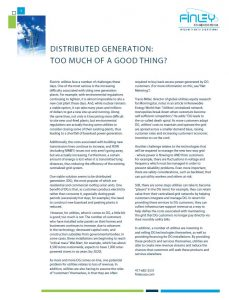 Distributed Generation 2much