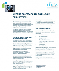 Operational Excellence edit
